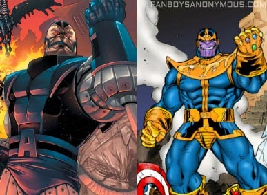 same character Apocalypse vs. Darkseid vs Thanos all look alike