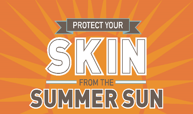 Protect Your Skin From The Summer Sun #infographic