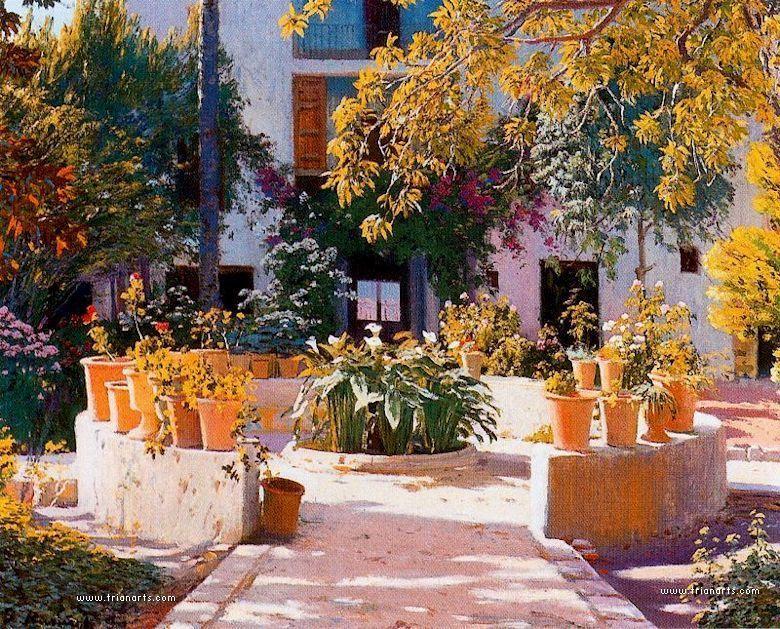 Rusi ol el pintor modernista de los jardines for Jardines nazaries