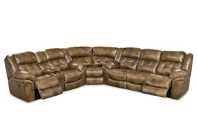 3-piece leather power reclining sectional