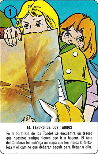 Baraja Dragones y mazmorras Heraclio Fournier Carta azul 1