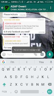 Whatsapp swipe to reply