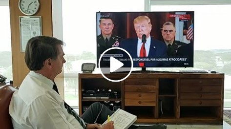 Vídeo: Brasil repudia o terrorismo, afirma Bolsonaro, após fala de Trump
