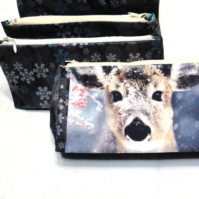 Косметичка на молнии - сумочка для бассейна Олень. Единственный экземпляр, хлопок и водостойкая ткань