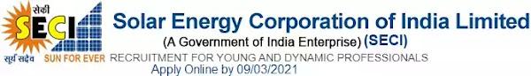 SECI Recruitment of Professional Vacancy in SECI 2021