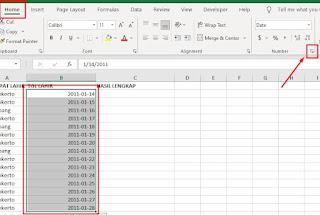 Ubah Format Tanggal di Excel