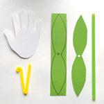 Handprint Lilies - Step 1