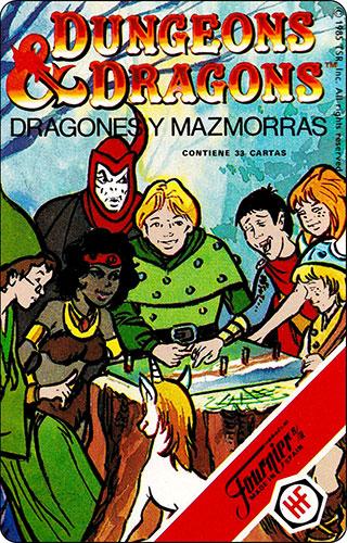 Baraja Dragones y mazmorras Heraclio Fournier Carta Reglamento 1