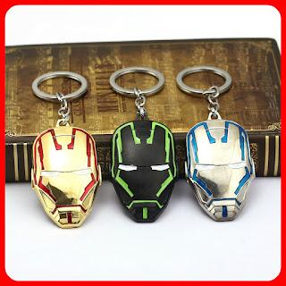 Iron Man 2nd Gen Mask Pendant Keychain Keyring Fashion Souvenir Gift Toys