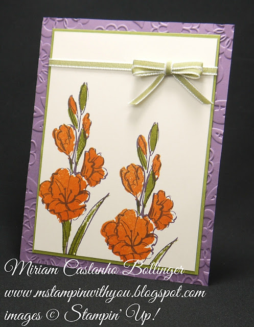 Miriam Castanho-Bollinger, #mstampinwithyou, stampin up, demonstrator, dsc, all occasions card, gift of love stamp set, lovely lace tief, su
