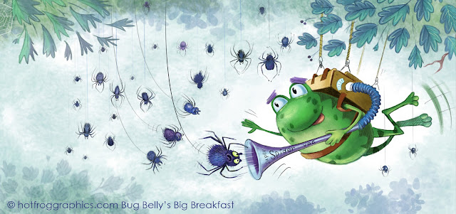 Colour illustration of Bug Belly the frog