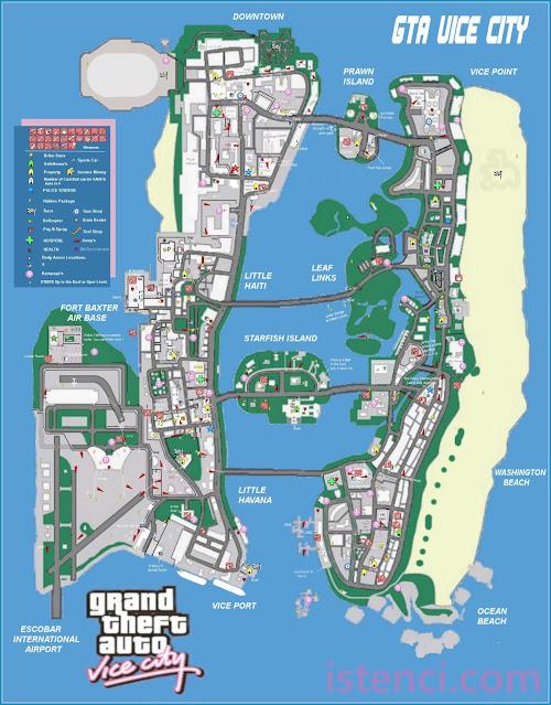 Grand Theft Auto: Vice City Yardımcı Şehir Haritası