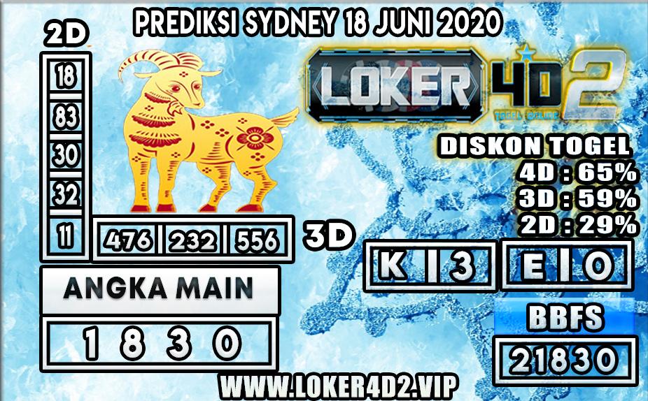 PREDIKSI TOGEL SYDNEY LOKER4D2 18 JUNI 2020
