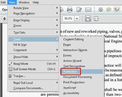 Memberi Password pada file PDF dengan Adobe Acrobat Pro