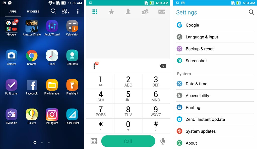 ASUS Zenfone 3 5.5 (ZE552KL) UI