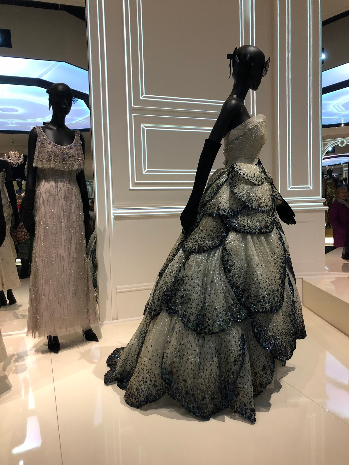 christian dior exhibition v and a scallop dress