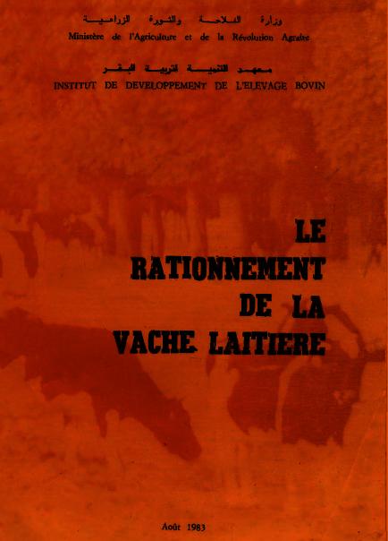 Le rationnement de la vache laitiere - WWW.VETBOOKSTORE.COM
