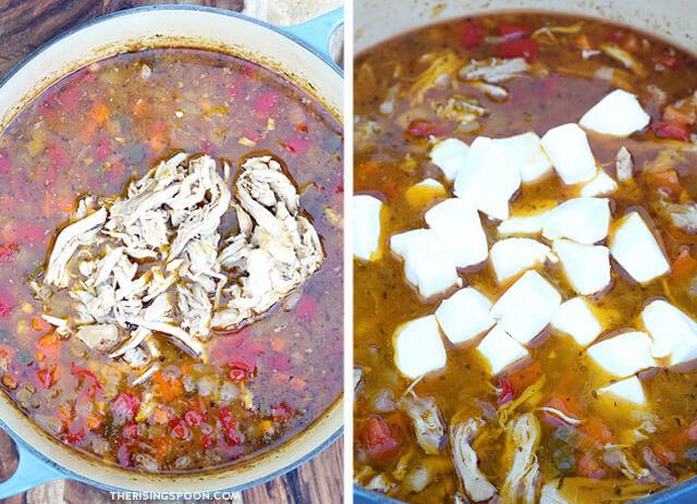 Creamy White Chicken Chili with Chicken Thighs & Cream Cheese
