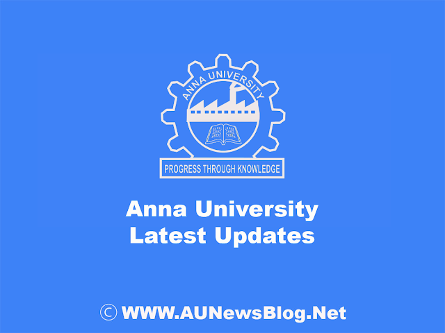 Anna University Ph.D. Special Electives Time Table for Nov/Dec 2019 Jan 2020