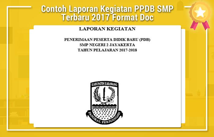 Contoh Laporan Kegiatan PPDB SMP Terbaru 2017 Format Doc