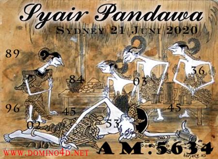 Syair Sydney Pandawa Minggu 21 Juni 2020