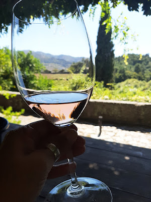 copo de vinho na Quinta de Covela