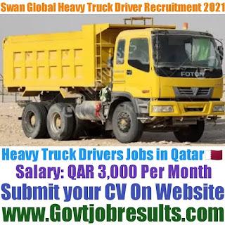 Swan Global Heavy Truck Driver Recruitment 2021-22