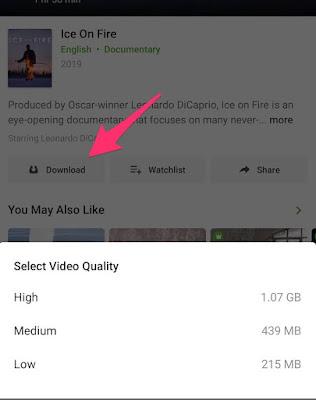 hotstar video offline download
