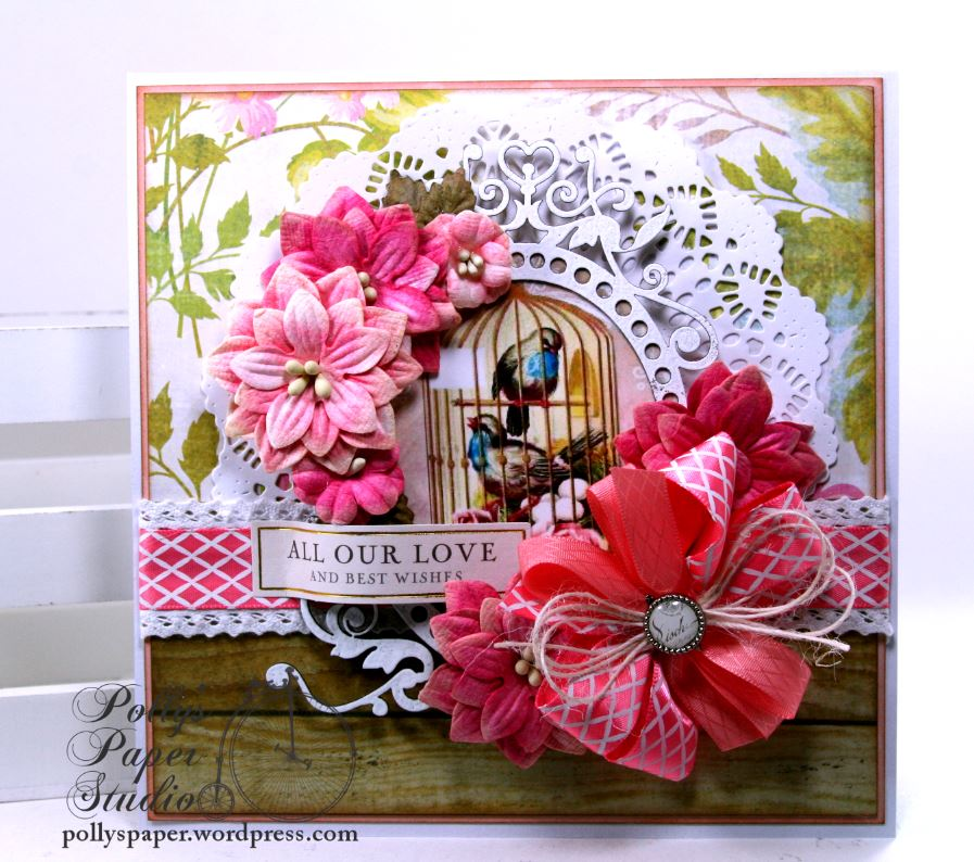 Really reasonable ribbon blog all our love and best wishes greeting this combination inspired me to create a card with florals and wood grain m4hsunfo