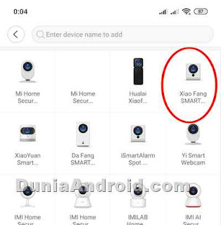 memilih tipe perangkat smart camera