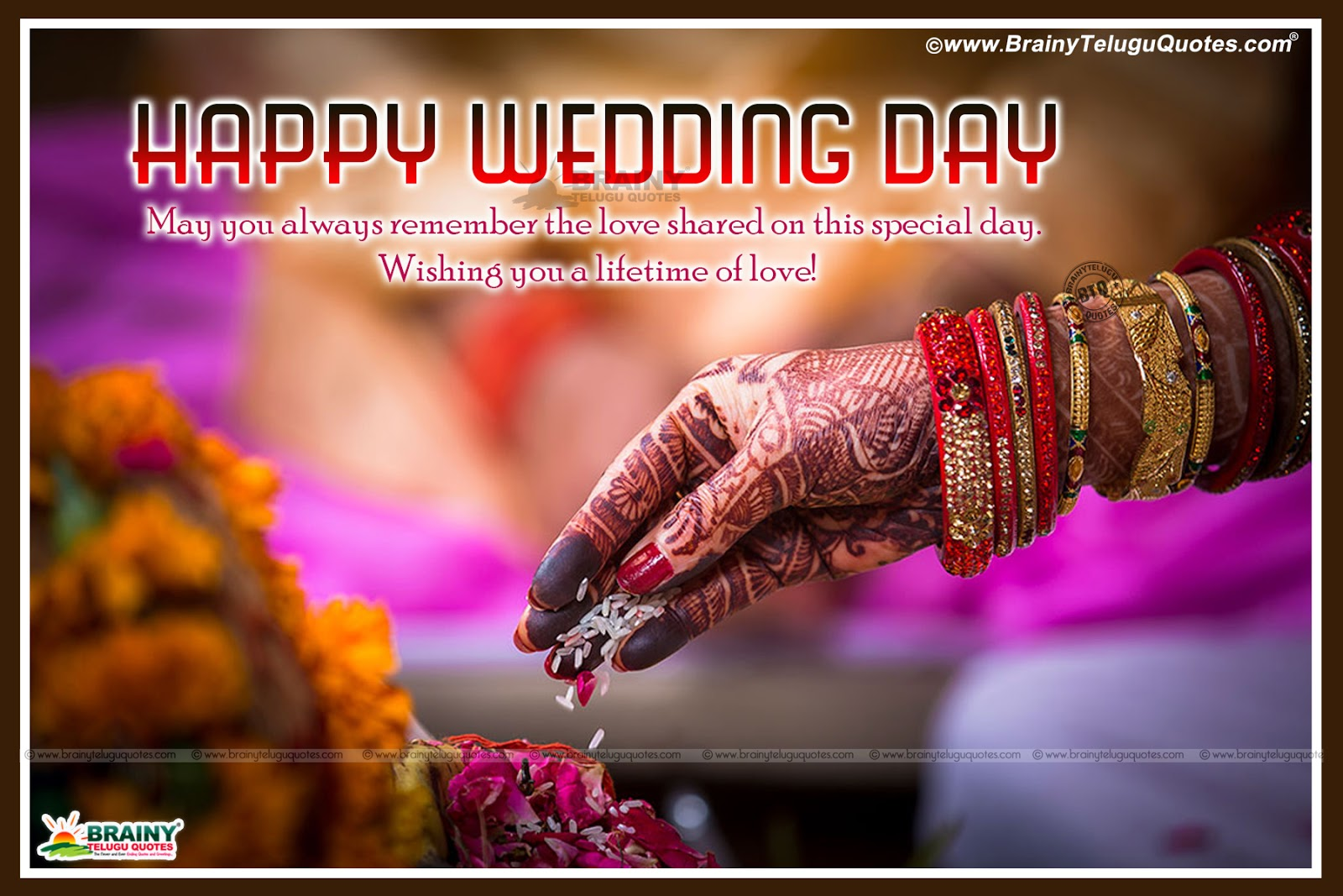 Happy Wedding Anniversary Day Telugu Quotes