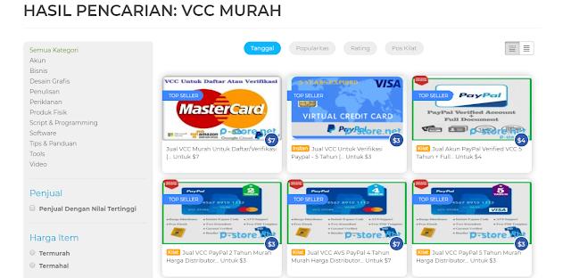 VCC Murah dari Situs Pstore