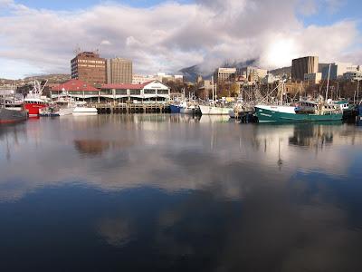 Vistas de Hobart desde el puerto, Tasmania