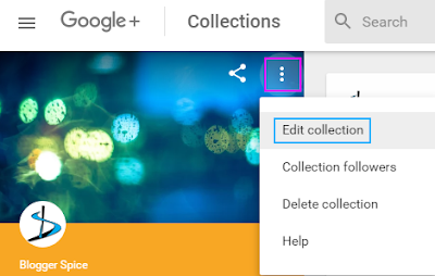 edit Google plus collection