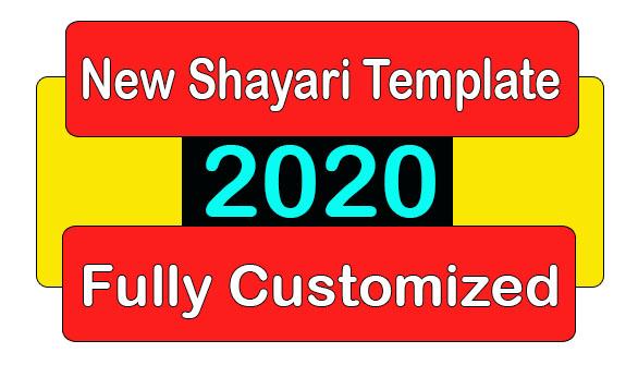 Sancy Shayari Template Blogger Fully Customized Download 2020, Fully Customized Shayari Template