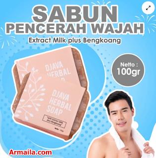 DJAVA Herbal Soap Milk Plus Bengkoang  ARMAILA DROPSHIPPER