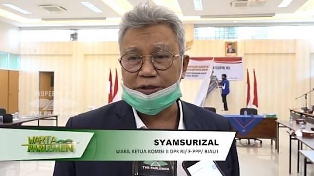 Wakil Ketua Komisi II DPR RI Syamsurizal