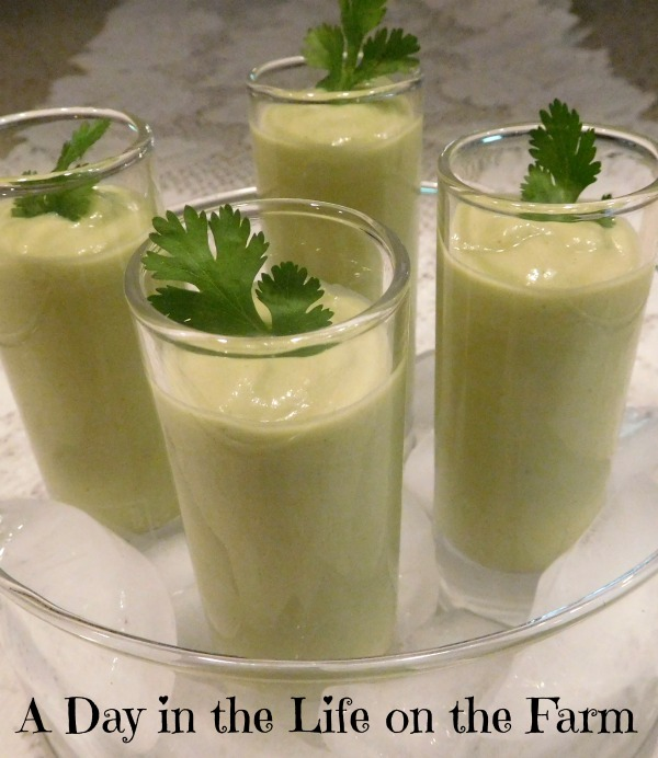 ... the Life on the Farm: Chilled Avocado Shooters #SoupSaturdaySwappers