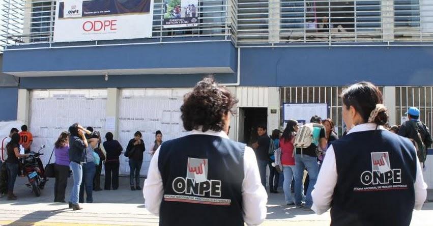 ONPE: Mañana domingo votarán más de un millón de afiliados en Elecciones Internas 2020
