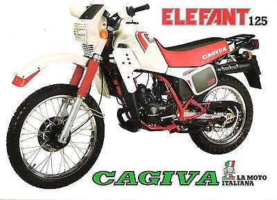 Cagiva Elefant 125 Electra Aletta Rossa Ala Blu - Os italianos inventaram moda...  mas a moda não pegou!