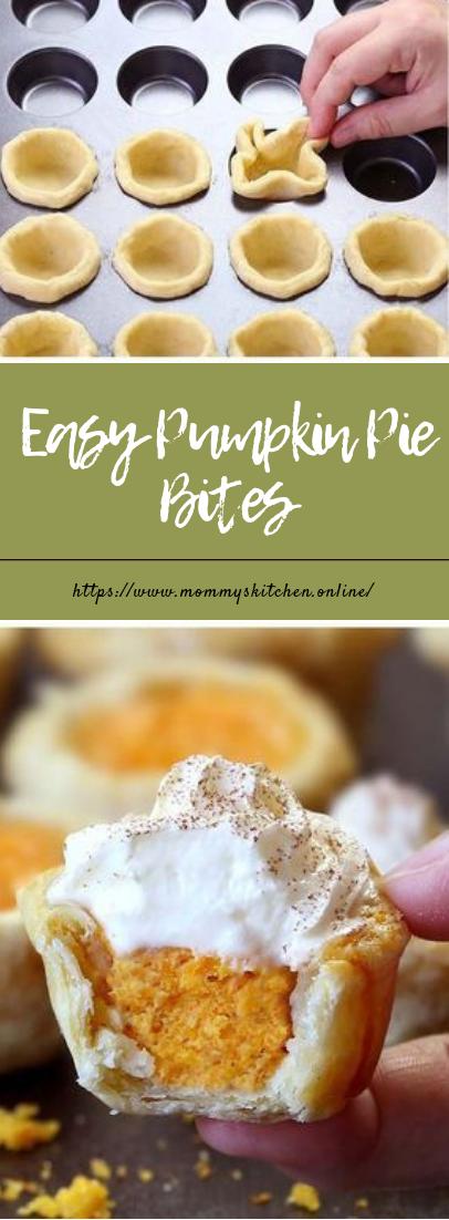 Easy Pumpkin Pie Bites #dessert #easyrecipe