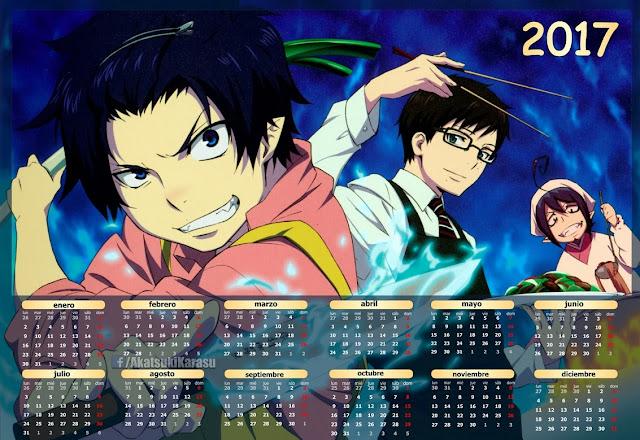 calendario anime 2017