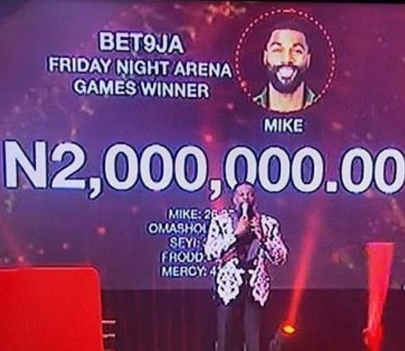 #BBNaija 2019: Mike emerges winner of Arena Games, smiles home with N2m