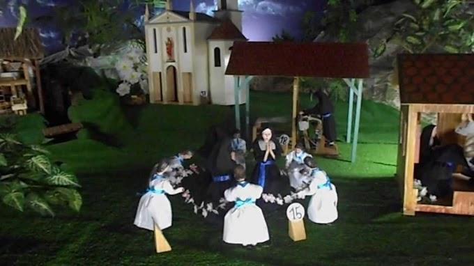 Cenário vivo da vida de Santa Paulina