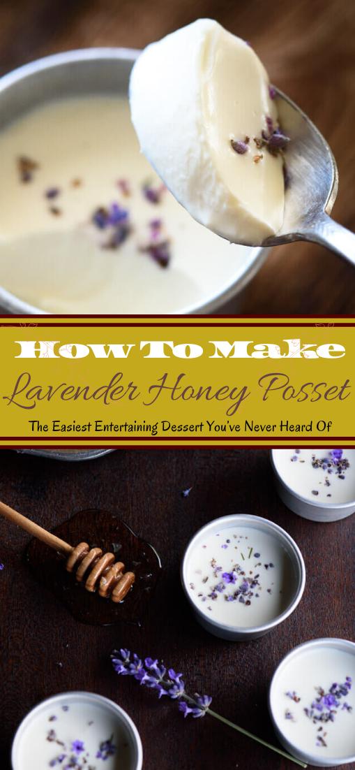 Lavender Honey Posset #desserts #cakerecipe #chocolate #fingerfood #easy