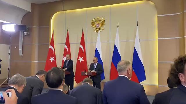 بنود الأتفاق الروسي التركي حول الحدود السوري التركي شرق الفارت (سوتشي ، 22 أكتوبر 2019)
