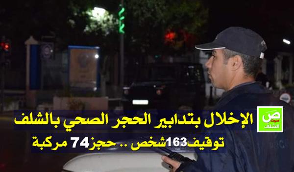 توقيف163 شخص  أخل بتدابير الحجر الصحي بالشلف