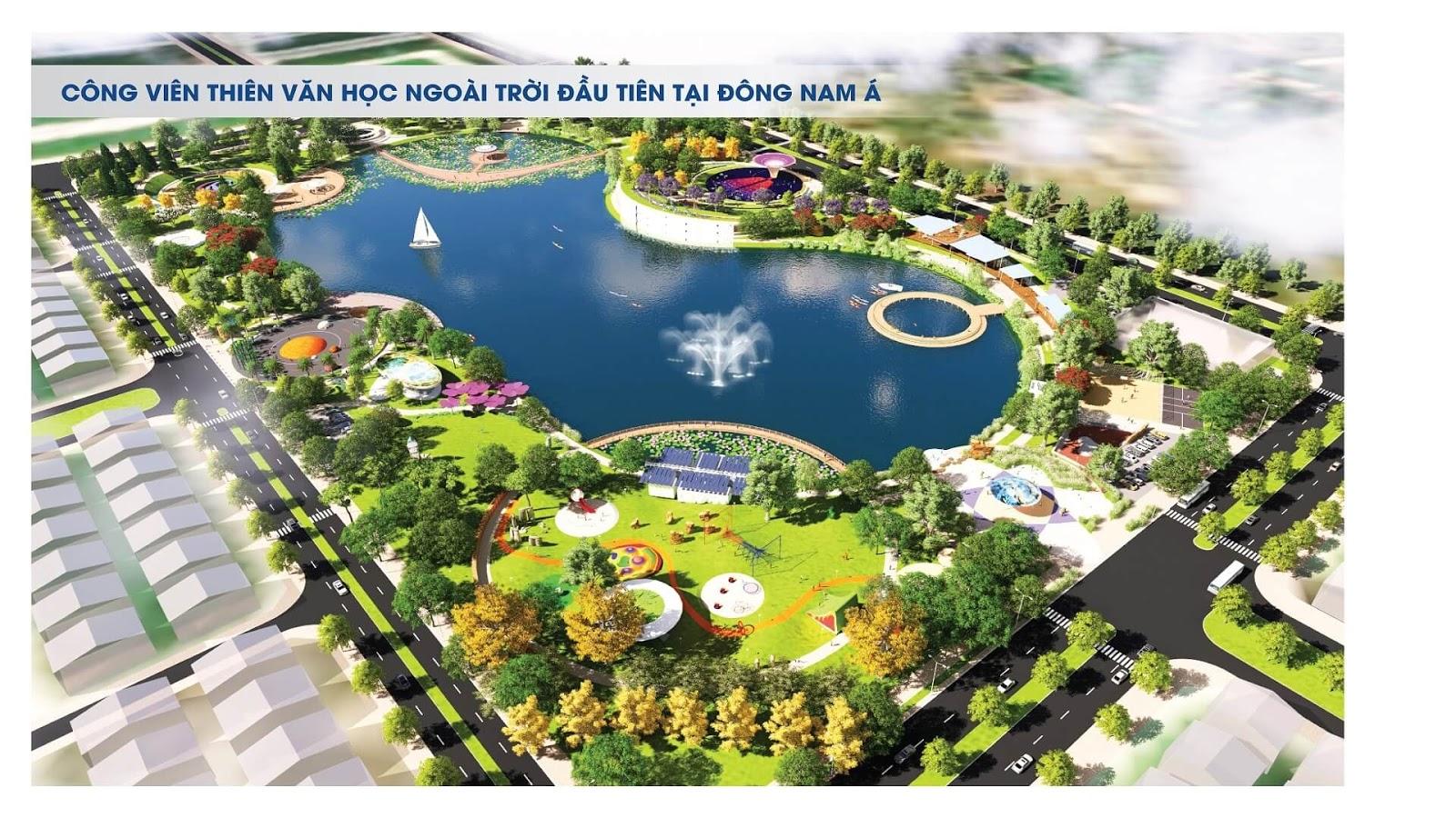 Công viên hồ điều hòa Dương Nội.