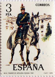 TENIENTE DE ARTILLERÍA RODADA 1912