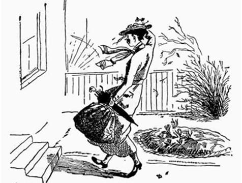 Mary Poppins, ilustración de Mary Shepard - Cine de Escritor